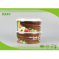 China Take Away Flexo Printed Logo 32oz Paper Salad Bowls Containers FSC Certificated on sale