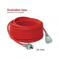 China Australian Full Contact Blades Power Red Electrical Extension Cords wholesale