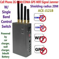 Quality 4 Antenna Handheld Cell Phone 2G GSM GPS WIFI Signal Jammer Blocker W/ Single for sale