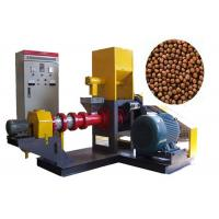 China Single Straw Feed Pellet Machine , Floating Fish Feed Extruder Machine on sale