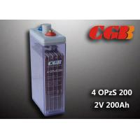 Quality 2V 4 OPzS200 Tube Vented ABS Opzs Batteries Solar Energy Storage Application for sale