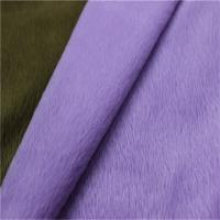 China 100 polyester super soft FDY velboa knitted minky toy plush fabric 0.5mm-5mm Velboa Dty/fdy wholesale