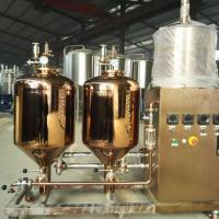 Small Capacity Craft Beer Brewing Equipment 30L - 5000L Steam Heating For Home