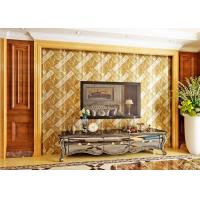 China Luxurious Modern Style Wallpaper with Removable Gold Foil Material , Geometric Pattern wholesale