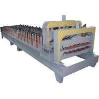 China Galvanized Steel Double Layer Roll Forming Machine With HRC50 - 60 Heat Treatment wholesale