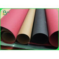 China 0.55MM / 0.3MM Double Side Smooth Washable Kraft Paper Roll Brown / Black / Red wholesale