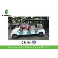 China Fashion Style White DC Motor 4kW Electric Shuttle Bus Max Loading 8 Passengers on sale