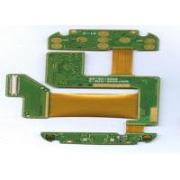 China FR4 + PI 4 Layer Rigid Flexible PCB ENIG Finish Green Masking White Lengend wholesale