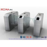 Quality Pedestrian Turnstile Flap Barrier Gate Access Control System Half Height 550mm Passage Width for sale