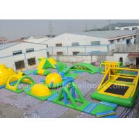 China 95 Persons Inflatable Water Parks / Inflatable Sea Floating Water Amusement Park wholesale