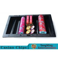 China Texas Holdem Casino Chip Tray Black Color , Comfortable Touch Casino Chip Holder wholesale