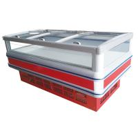 China 1200L Supermarket Island Freezer R404a With Double Cabinets wholesale