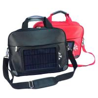 China Waterproof  Nylon Laptop Solar Charging Backpack With USB Battery Backup wholesale