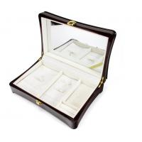 China Luxury Wood Gift Box Packaging / Wooden Jewelry Case In Glossy Finish wholesale
