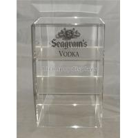 China Liquor Store Wine Display Stand Acrylic Wine Display Case With Custom Logo wholesale