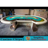 China Waterproof Casino Poker Table / Professional Poker Table With Leather Handrails wholesale