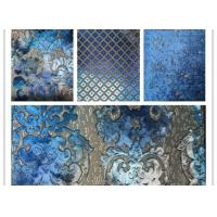 China Hand - Printed Polyester Velvet Fabric Cutting Velvet Jacquard Woven Fabric wholesale