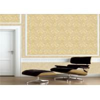 Classic Embossed Damask Wallpaper , Vintage Embossed Vinyl Wallpaper