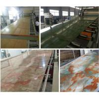 China PVC Imitation Marble Decorative Sheet Extruder/PVC Marble Board Extrusion Machine (SJSZ80X156) wholesale