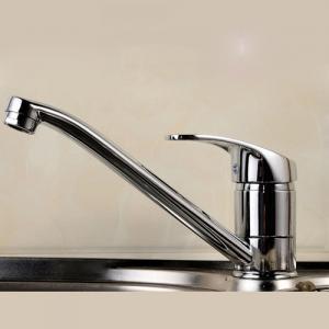 China Ceramic Disc Valve Single Handle Bathroom Faucet Hot / Cold Mixer wholesale
