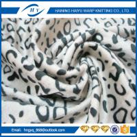 China Commercial Carpet leopard print velvet upholstery fabri For Xcmg Spare Parts on sale