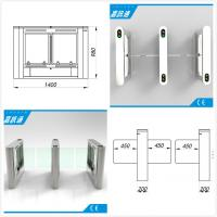 China Airport / Metro / Swimming Hall Speed Gate Half Height Turnstile with Automatic Rfid Reader wholesale
