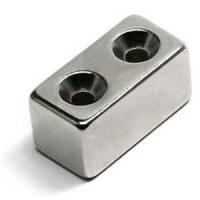 China Customized Strong N42 Countersink Neodymium Permanent Rectangle Magnet on sale