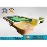 China Environmentally Friendly Casino Roleta Poker Table With Wooden Roulette Wheel wholesale