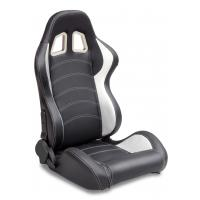 China Sparco Style Leather Racing Sport Auto Car Seats / Black And White Racing Seats wholesale