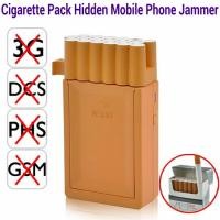 China Pocket Cigarette Box Pack Hidden Cell Phone Jammer GSM dcs phs 3G Signal Blocker Isolator wholesale