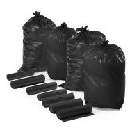 China Extra Strong HDPE Recyclable Garbage Bags Custom Printed Black Color wholesale