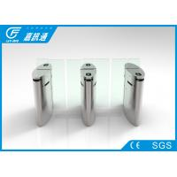 China Stainless Steel Flap Gate Barrier Sliding Turnstiles One Direction Face Recoginition wholesale