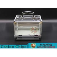 China 600PCS Double Open Handle Texas Chip Box / Aluminum Alloy Frame High Transparency Chess Room wholesale