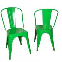 China Stackable Marais Green Metal Tolix Chairs , Dining Tolix Cafe Chair on sale
