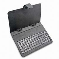 China Bluetooth Keyboard with 10-inch Leather Bag, Available in Various Colors wholesale