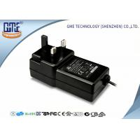 China Black Wall Mounted 12V Power Adapter 1.5M Cable 3 Prong Plug With CE Certificates wholesale