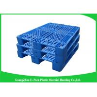 Buy cheap Blue Recyclable Transport industrial Plastic Pallets 4-Way Entry Type from wholesalers