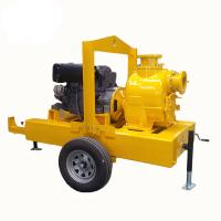 China electric motor powered self priming trash pump Diesel Engine Driven Septic Tank Pump With Trailer Mounted wholesale