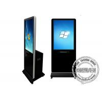 China Wifi Network Touch Screen Kiosk with Printer, Indoor Floor Standing Lcd Advertising Standee Kiosk wholesale