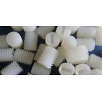 China M4 Slotted Plastic Nylon Set Screws Threaded Bolt For Insert White Color wholesale