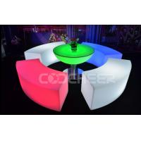 China Curved Glowing Lit Furniture Led Bar Chair Used Nightclub Bench wholesale