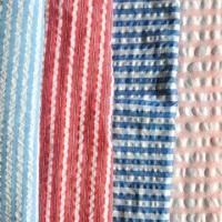 China Cotton Yarn-dyed Fabric (Bubble Finish), Available in Checked or Striped Pattern wholesale
