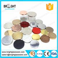 Buy cheap hot sale metal candle lids with customized logo for candle jar from wholesalers