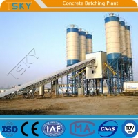 China Discharging Quickly HZS90 90m³/H Concrete Batching Systems wholesale