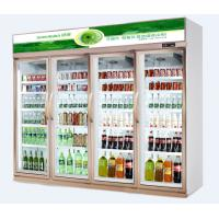 China Upright Glass Door Commercial Beverage Cooler With Danfoss / Drinks Display Chiller wholesale