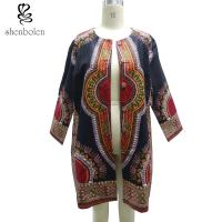 China Double Breasted African Ladies Jackets And Coats Oversize Multi Colors wholesale