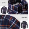 China cvc80/20  print flannel men's  work shirts wholesale