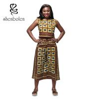 China Garment Dyed Adult Dashiki African Print Jumpsuit , African Inspired Jumpsuits wholesale