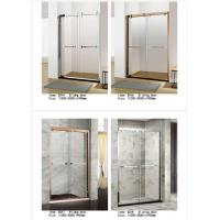 China Two Panel Sliding Glass Shower Doors Glass Thickness 6mm With PVC Waterproof Strip wholesale