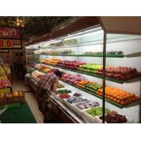 China Free Standing Multideck Open Chiller Supermarket Showcase , Glass Front Refrigerator wholesale